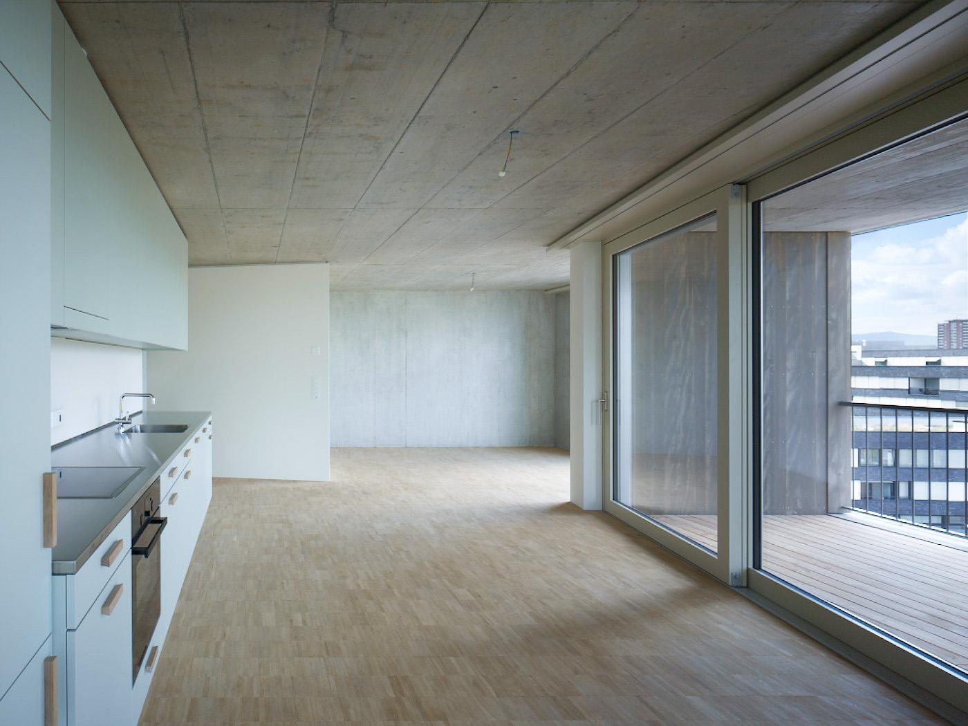 Erlenmatt Ost Küche Architektur