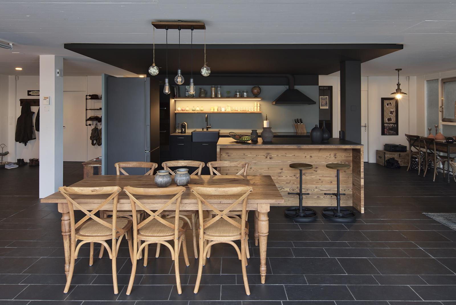 Küche Black White Hossmann Küchen AG